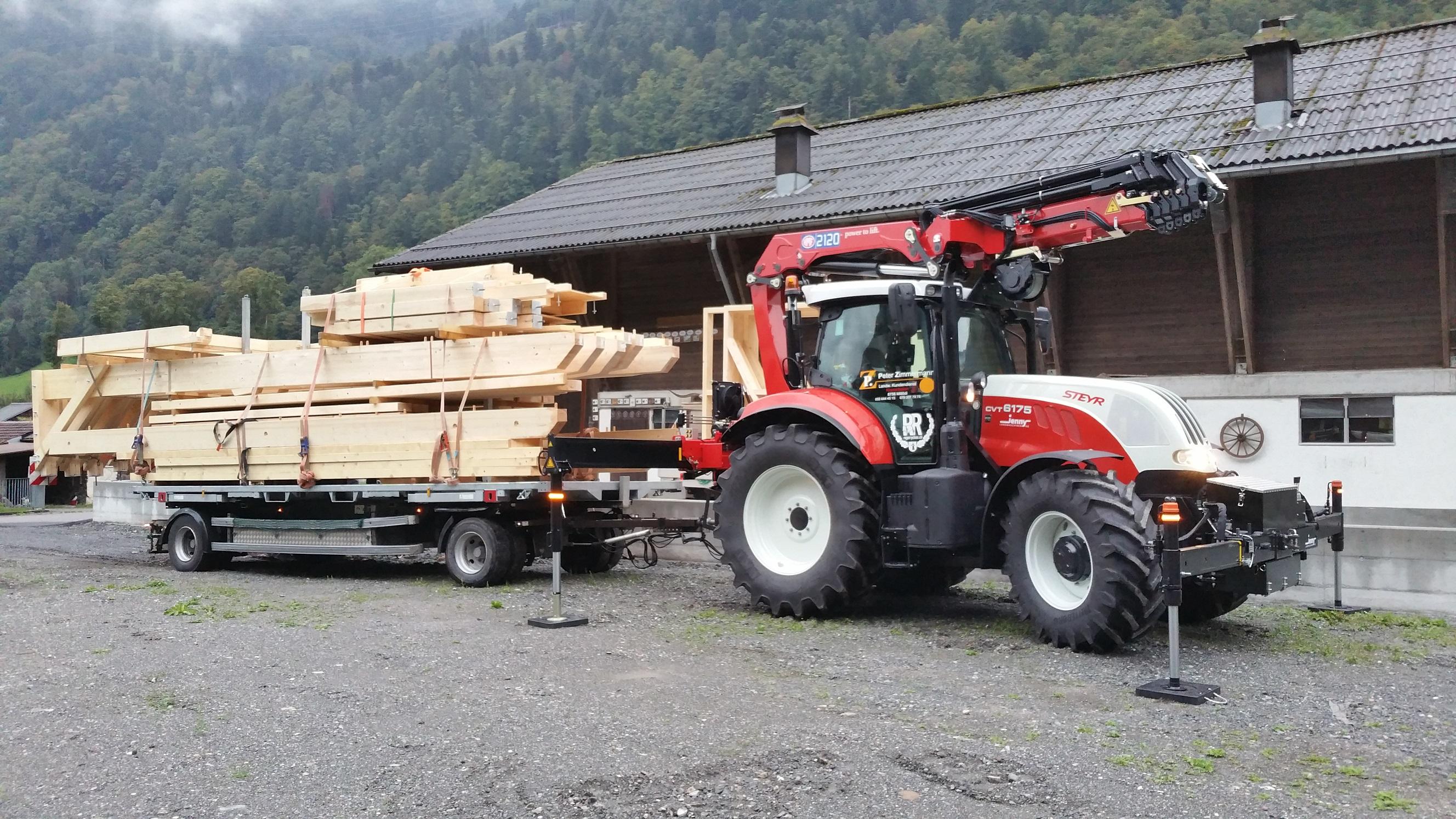 Fabelhaft Kranarbeiten mit Traktor &DB_33
